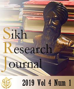 Sikh Research Journal Vol 4 Num 1 Sept 2019