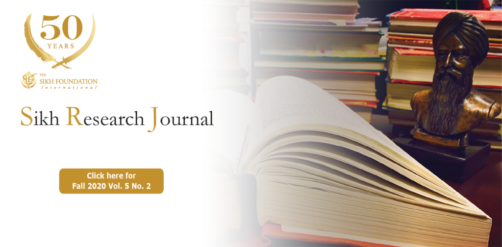 Sikh Research Journal - Current Issue